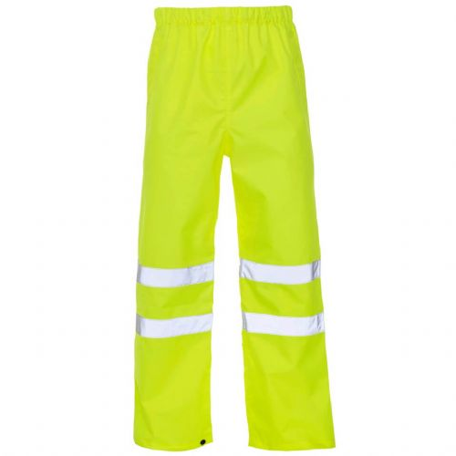 Supertouch Yellow Hi Vis Overtrousers
